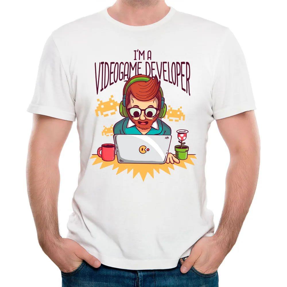 Camiseta Eu Sou Um Gamer Developer Branca