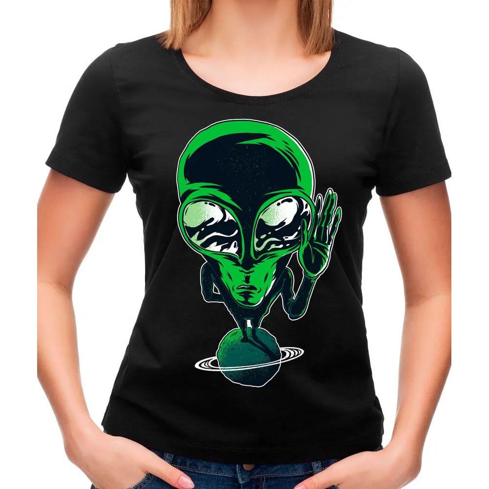 Camiseta Feminina Alien Preta