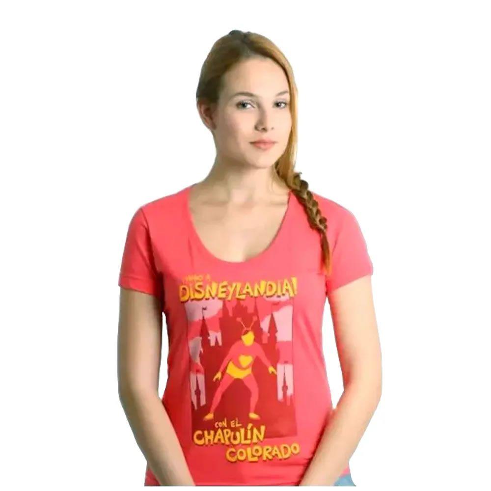 Camiseta Feminina Chapolim Disneylândia