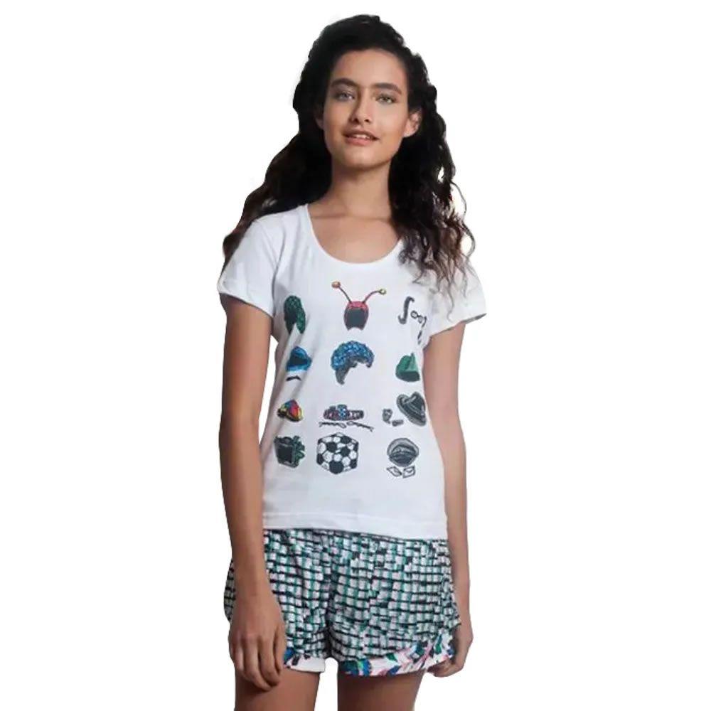 Camiseta Feminina Chaves Lembranças da Vila