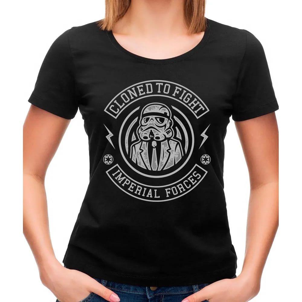 Camiseta Feminina Cloned To Fight Preta