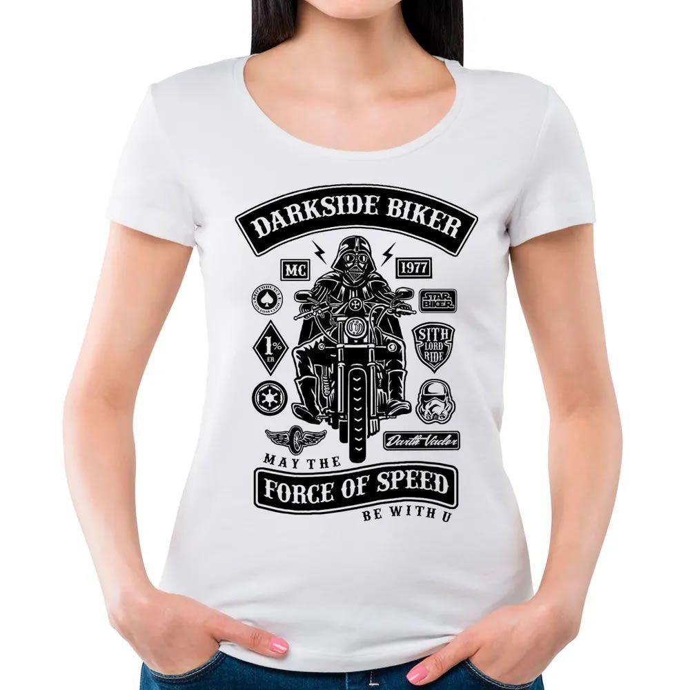 Camiseta Feminina Darkside Biker Branca