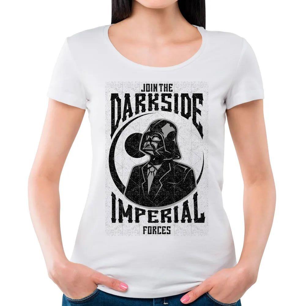 Camiseta Feminina Darkside Branca