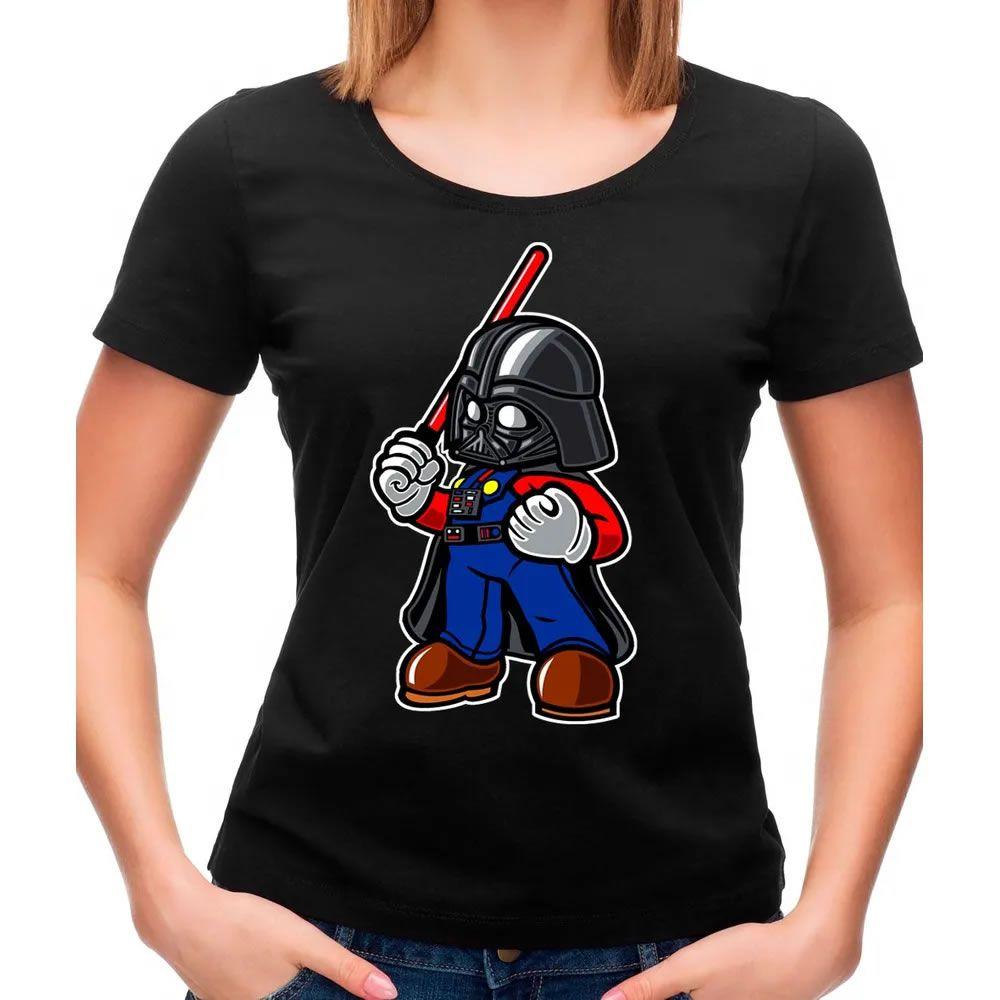 Camiseta Feminina Darth Plumber Preta