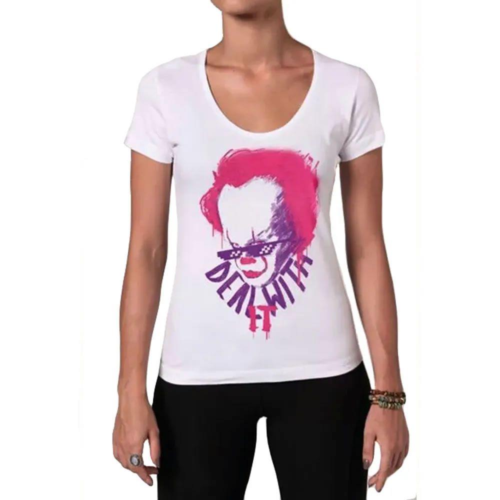 Camiseta Feminina Deal With It
