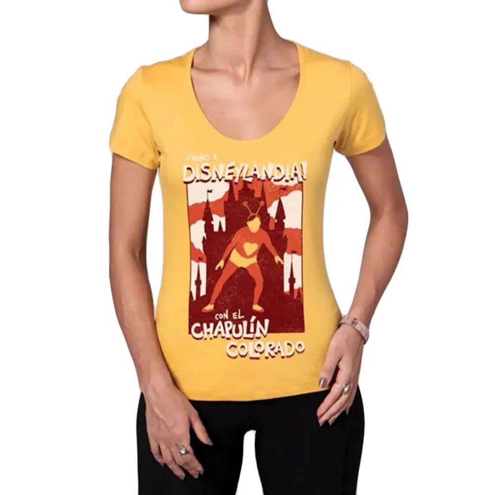 Camiseta Feminina Disneylândia Amarela