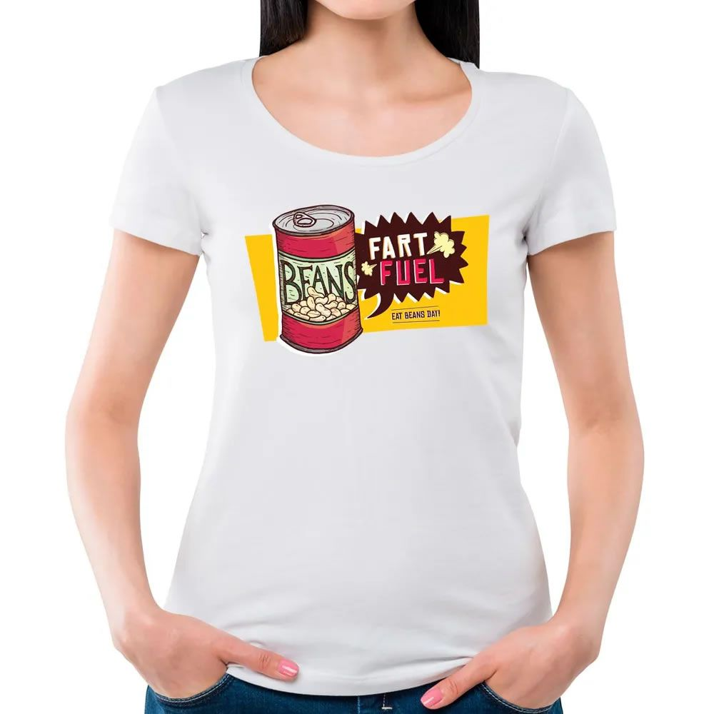 Camiseta Feminina Eat Beans Day Branco