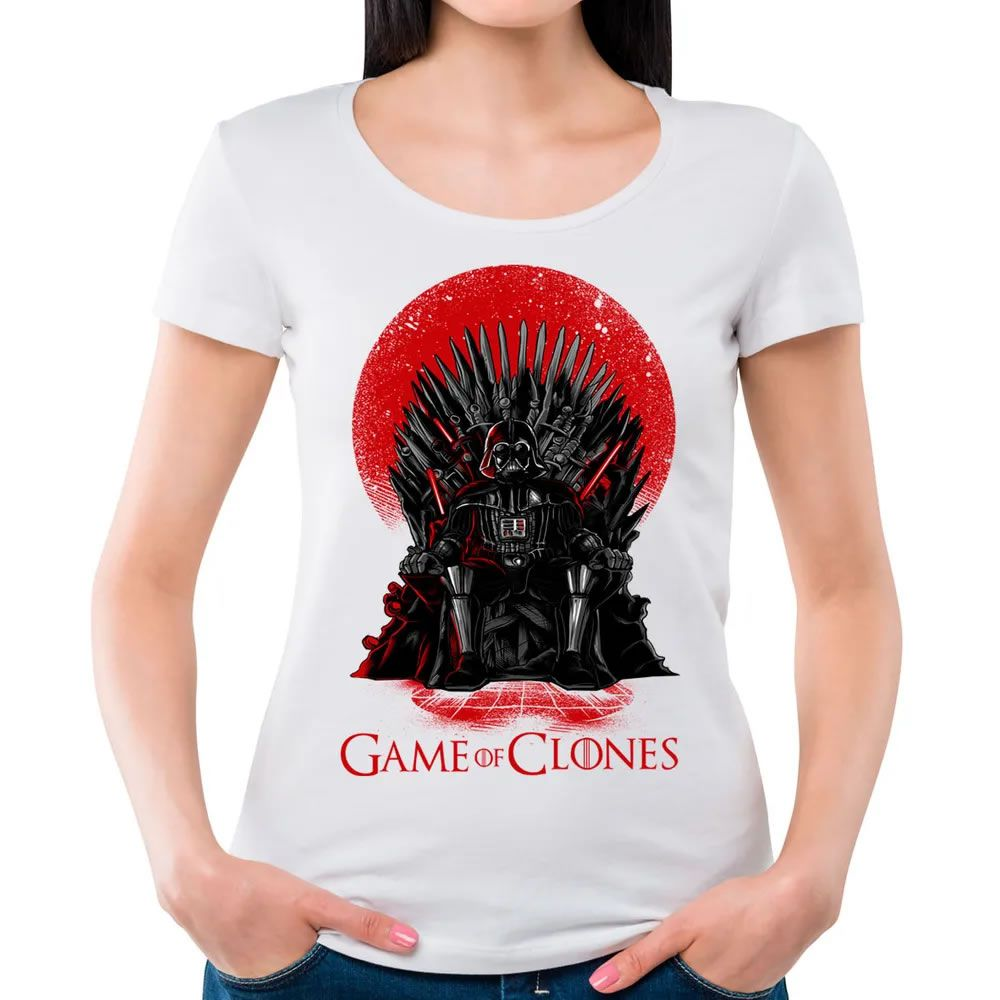 Camiseta Feminina Game of Clones Branca