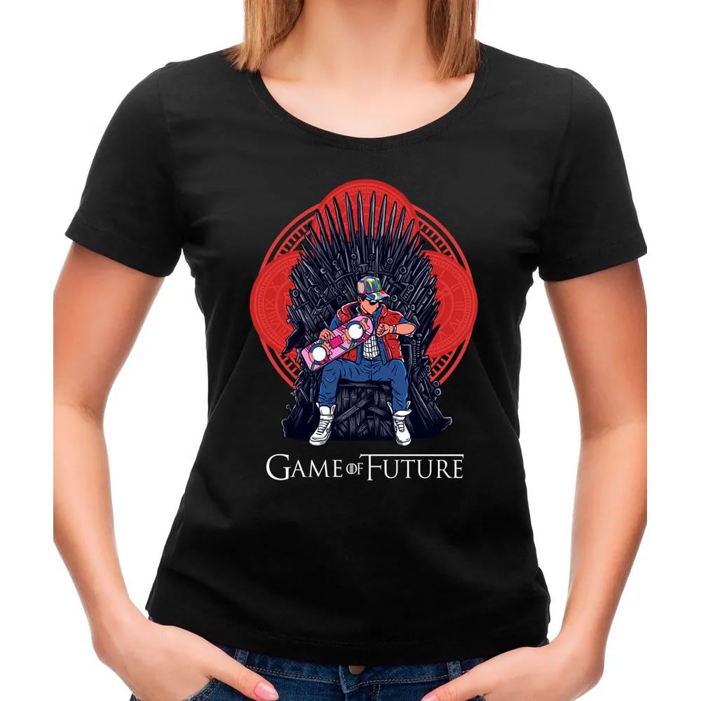 Camiseta Feminina Game Of Future Preta
