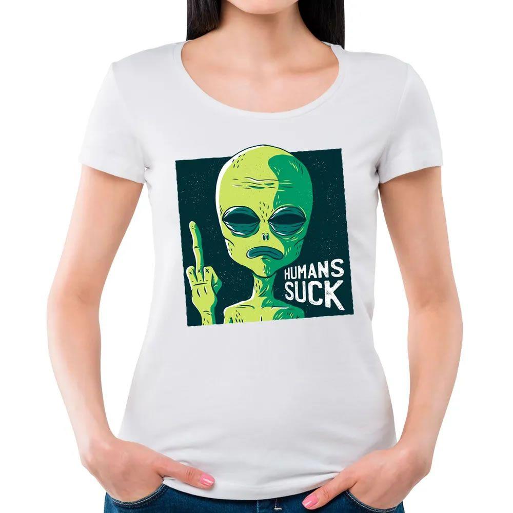 Camiseta Feminina Humanos Sugam Branca