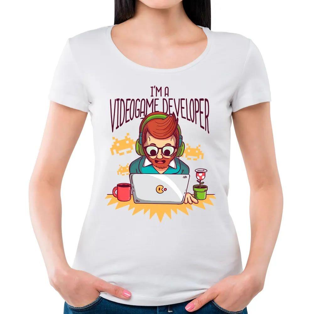 Camiseta Feminina I'm Game Developer Branco