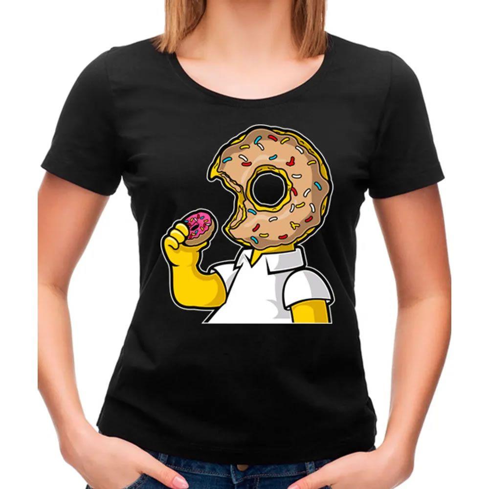 Camiseta Feminina Like Donut Preta