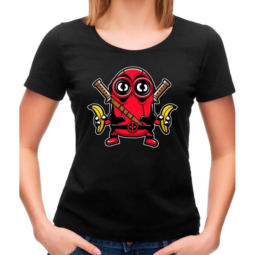 Camiseta Feminina Minionpool Preta