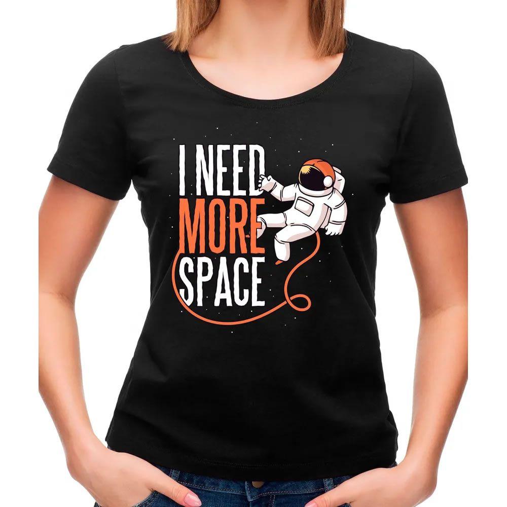 Camiseta Feminina More Space Preta