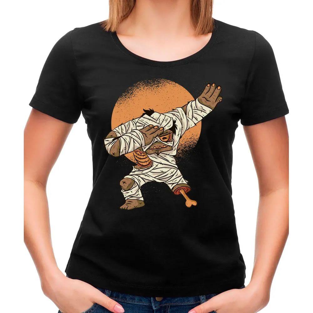 Camiseta Feminina Mummy Dab Preta