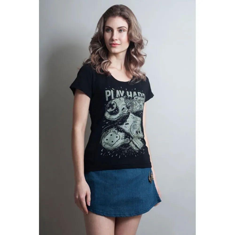 Camiseta feminina Play Hard