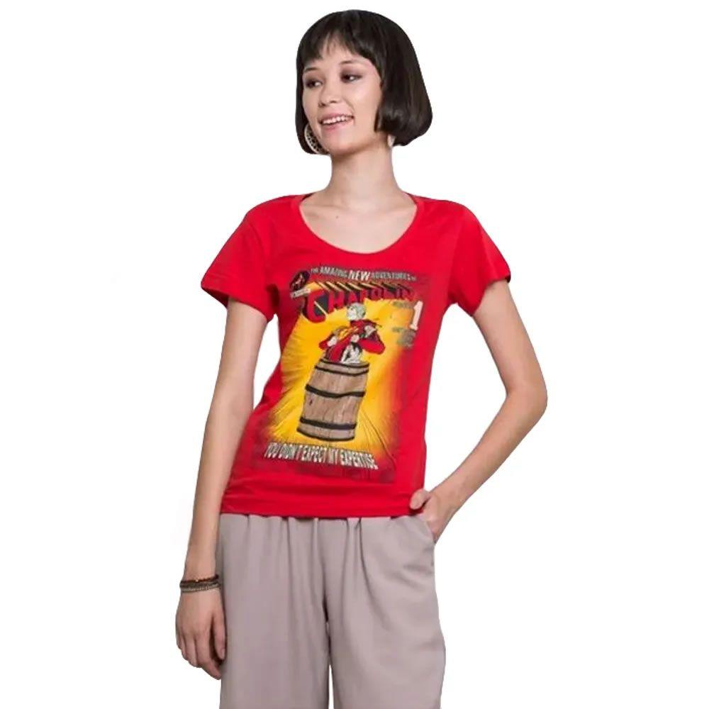 Camiseta Feminina Polegar Vermelho