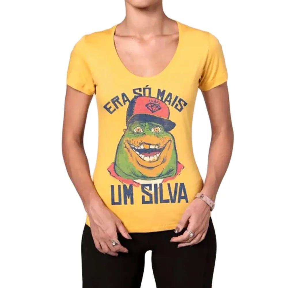 Camiseta Feminina Rap do Silva Sauro