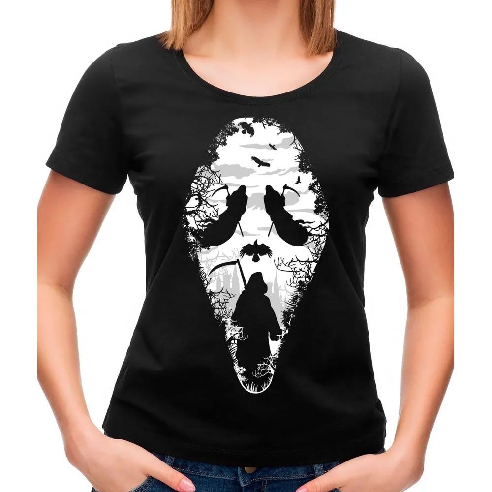 Camiseta Feminina Reaper Scream Preta