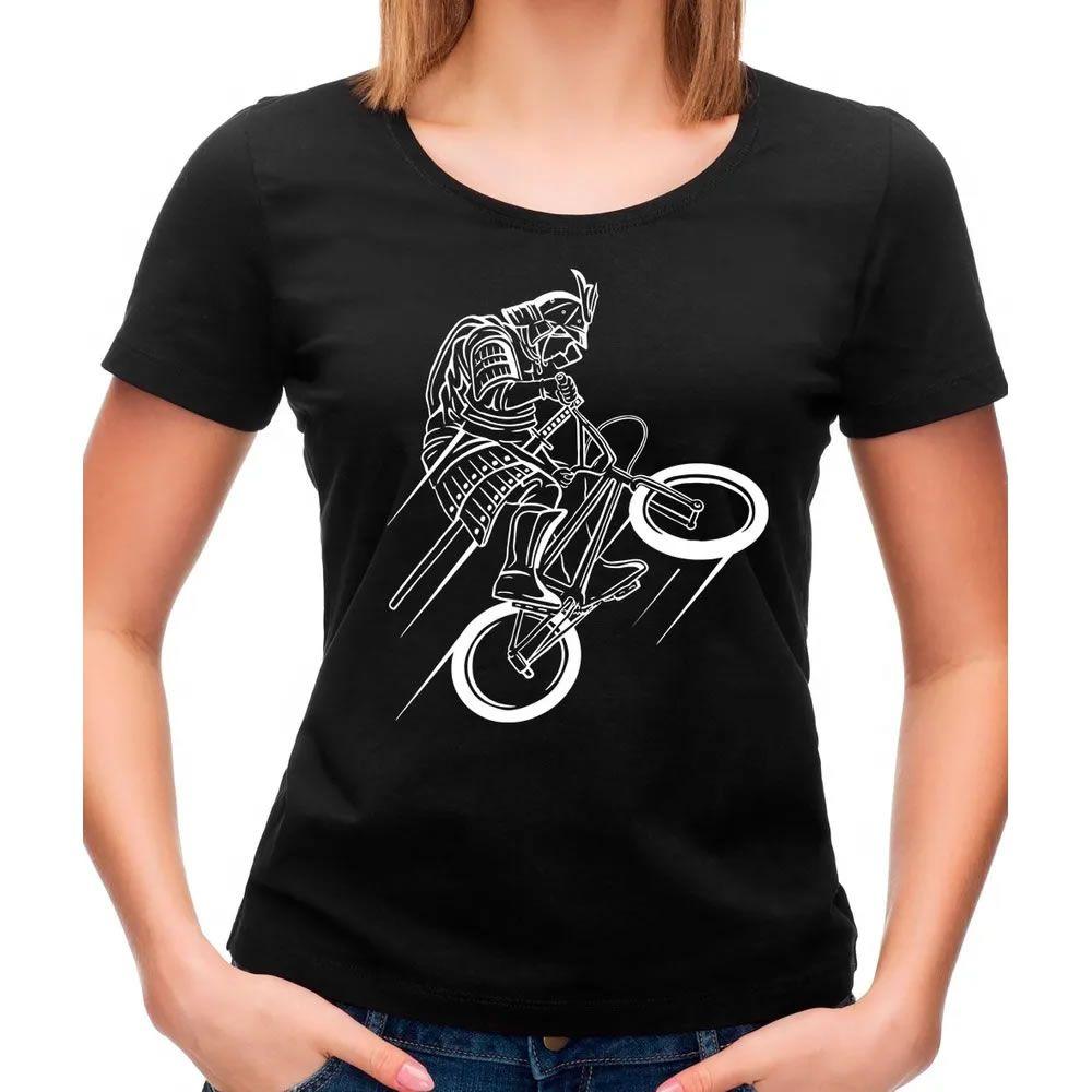 Camiseta Feminina Samurai Rider Preta