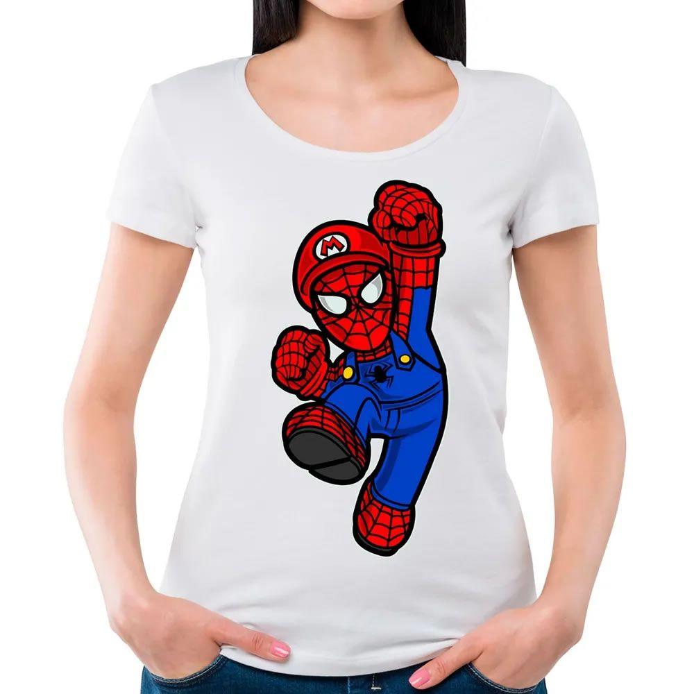 Camiseta Feminina Spider Plumber Branca