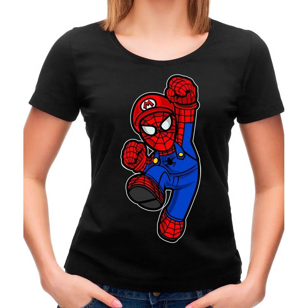 Camiseta Feminina Spider Plumber Preta