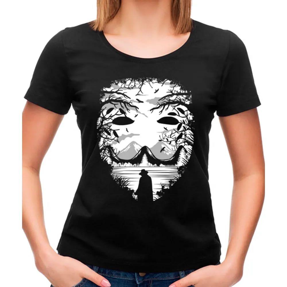 Camiseta Feminina The Mask Preta