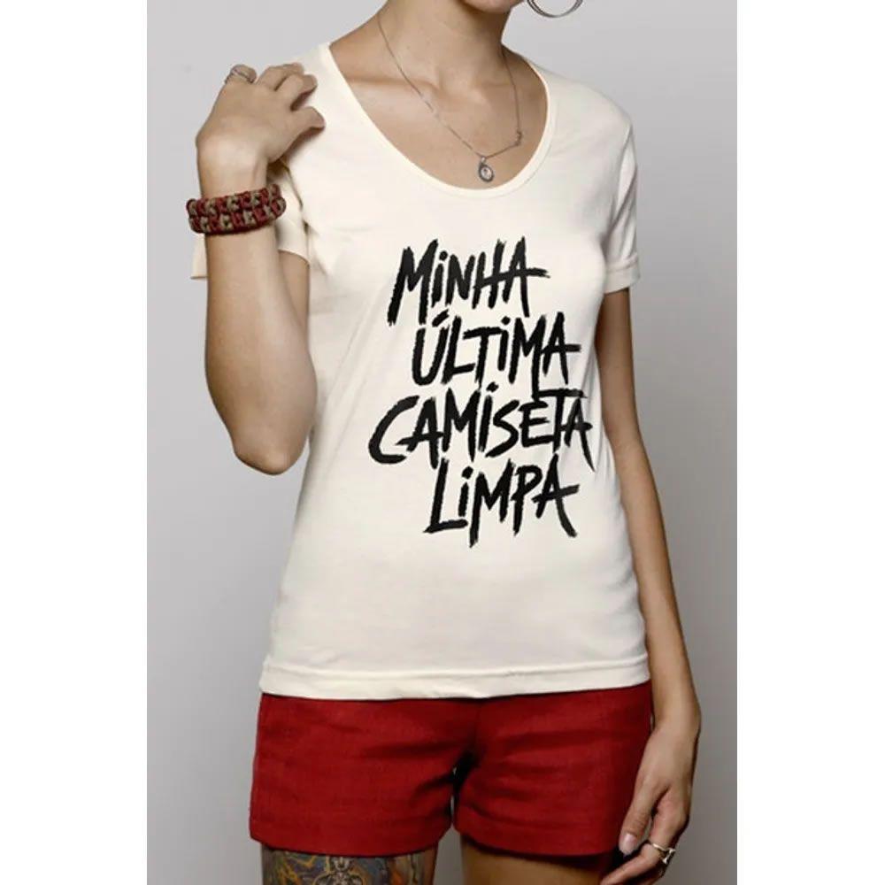 Camiseta feminina Última Camiseta