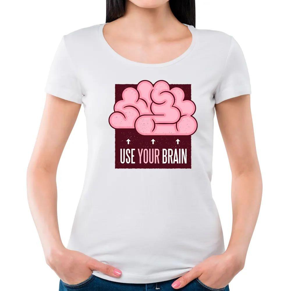 Camiseta Feminina Use Seu Cérebro