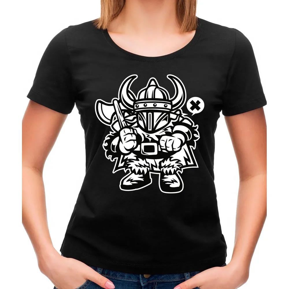 Camiseta Feminina Viking Preta