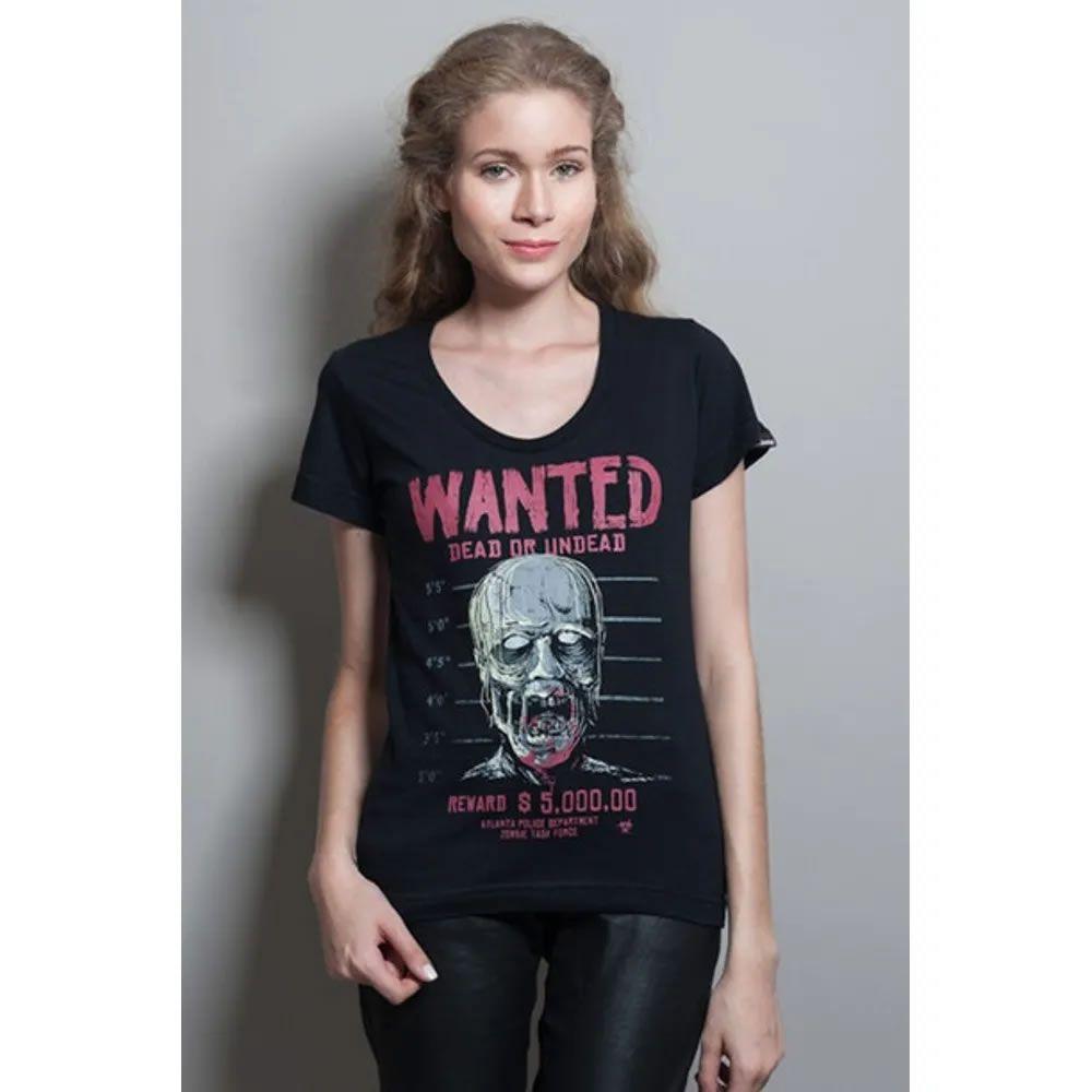 Camiseta Feminina Wanted Zombie