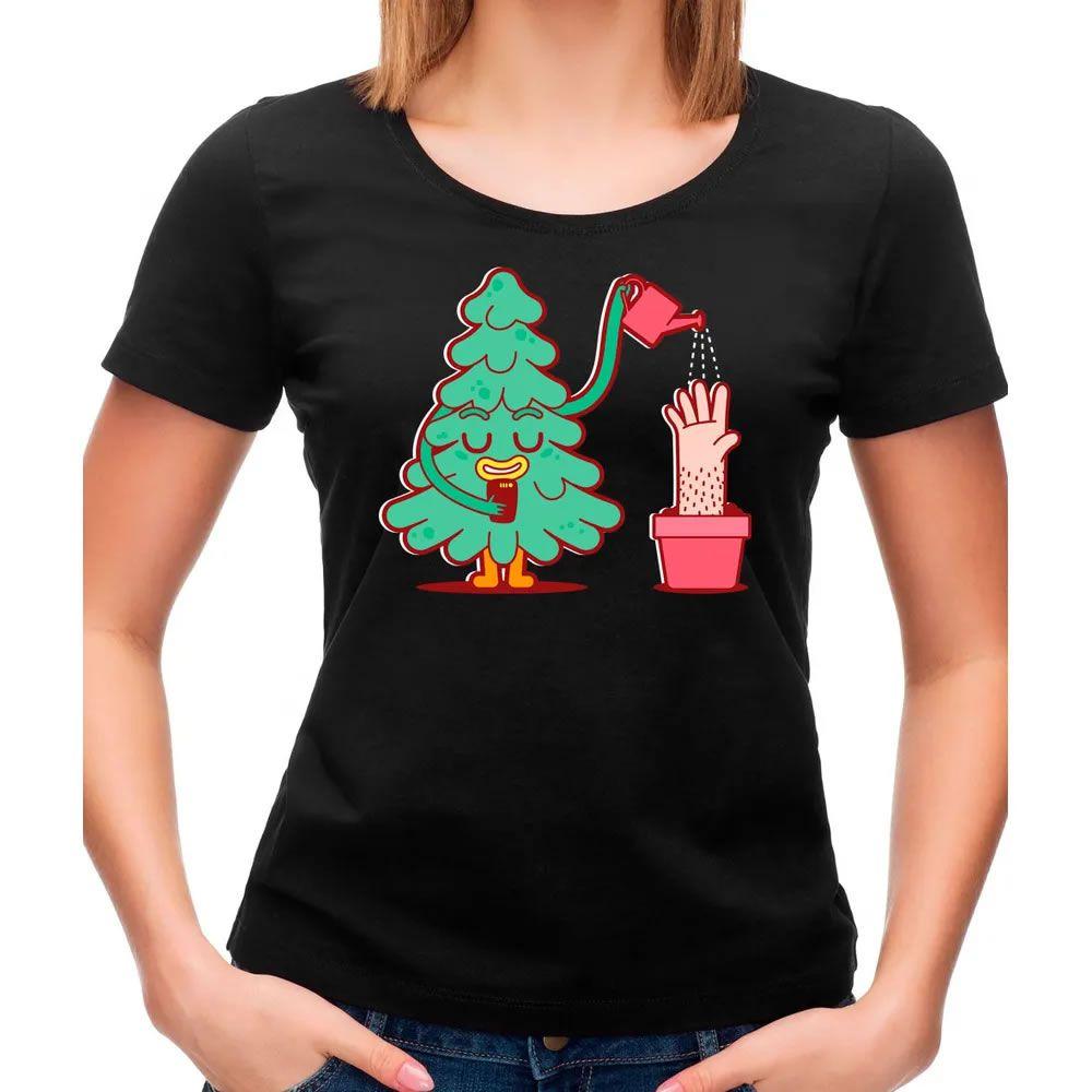 Camiseta Feminina Watering Tree Preta