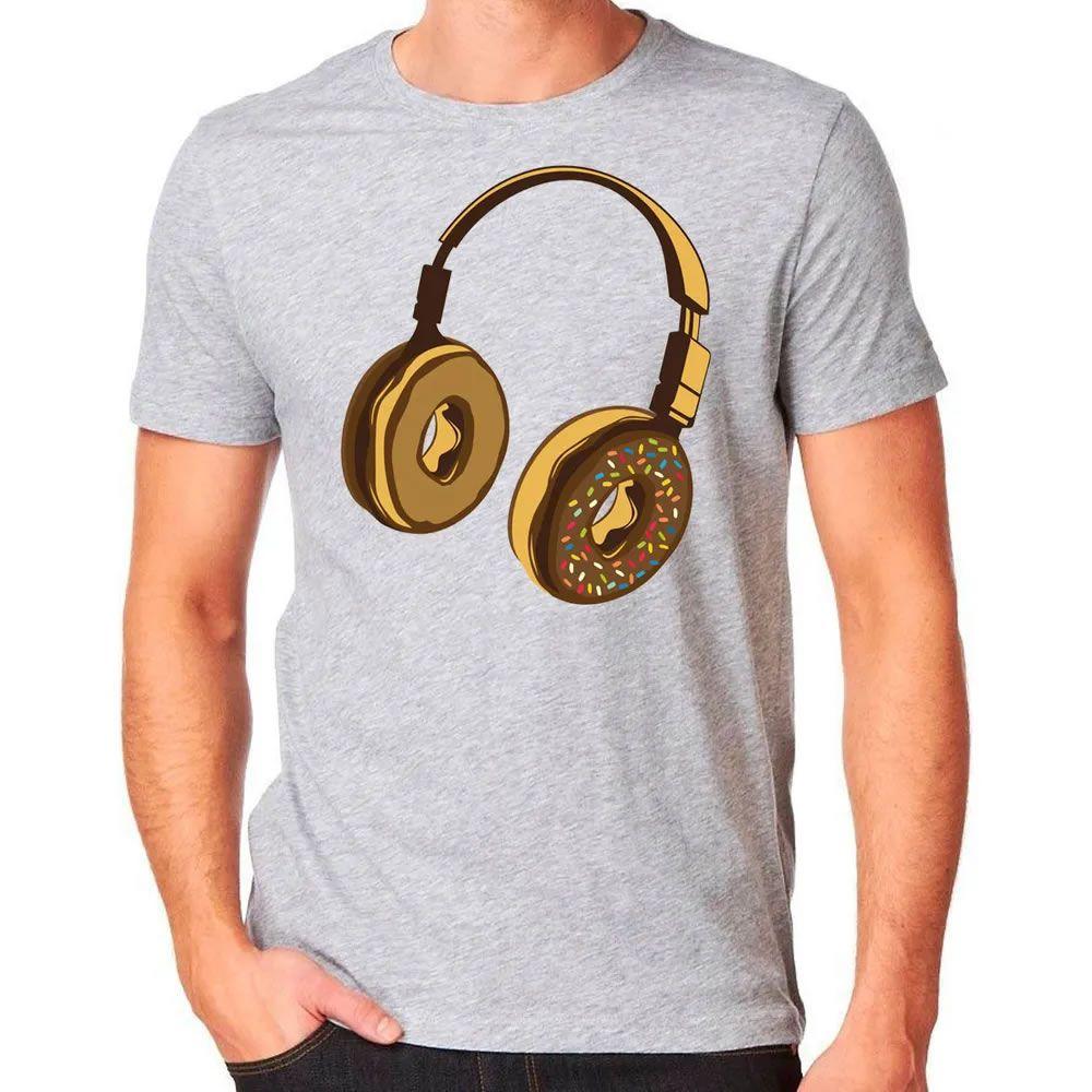 Camiseta Headphone Donut Cinza