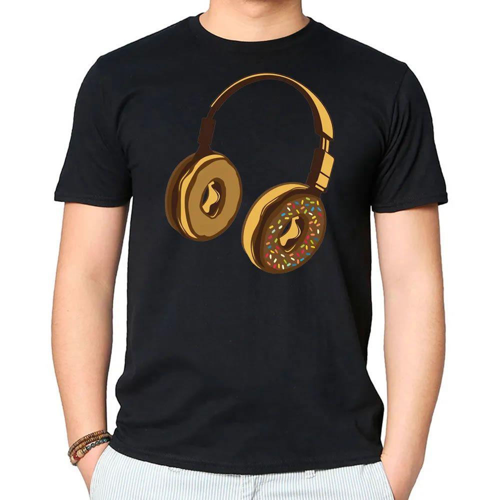 Camiseta Headphone Donut Preta