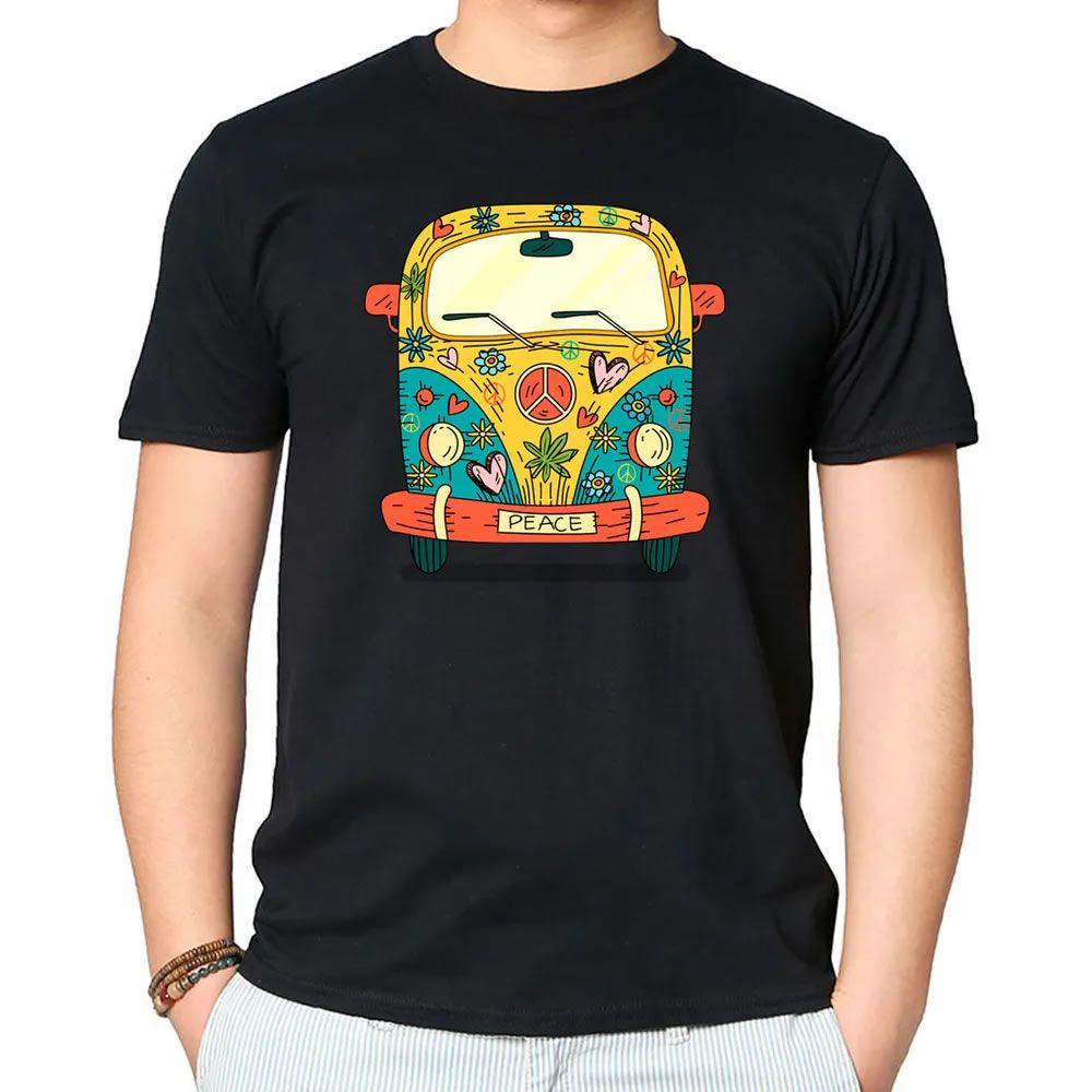 Camiseta Hippie Kombi Preta