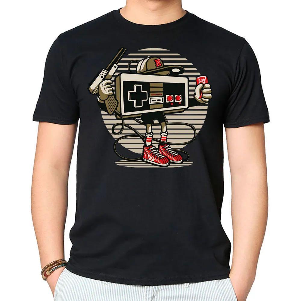 Camiseta Let's Play Nintendo Preta