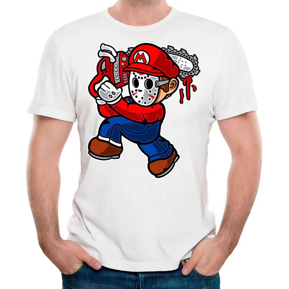 Camiseta Mario Massacre Branca