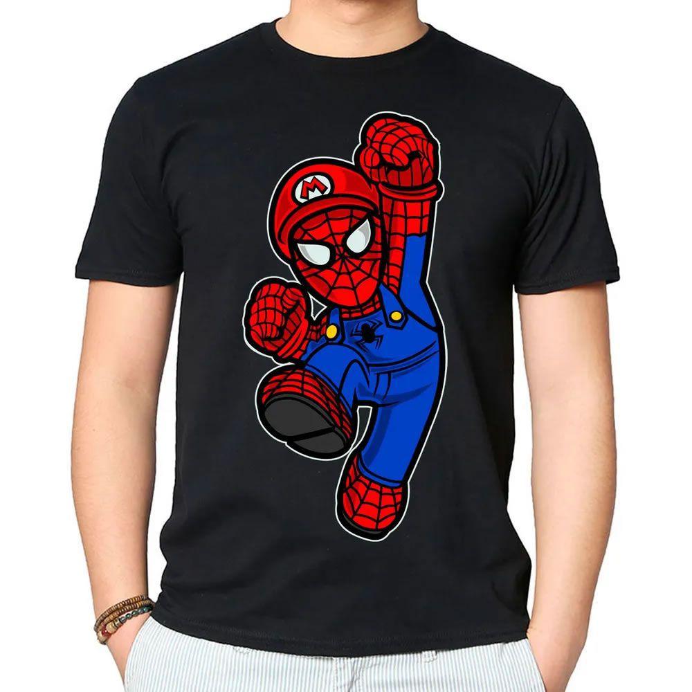 Camiseta Mario Spider Preta