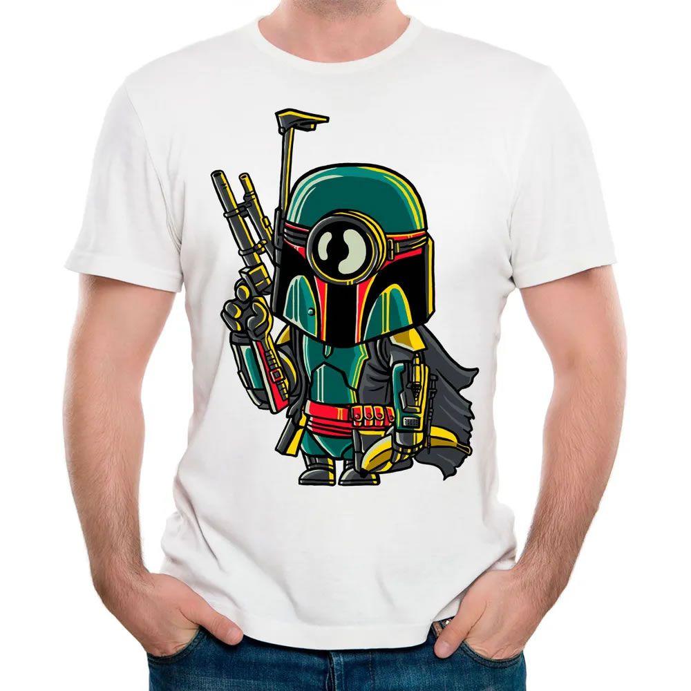 Camiseta Minion Boba Fett Branca