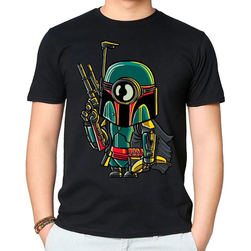 Camiseta Minion Boba Fett Preta