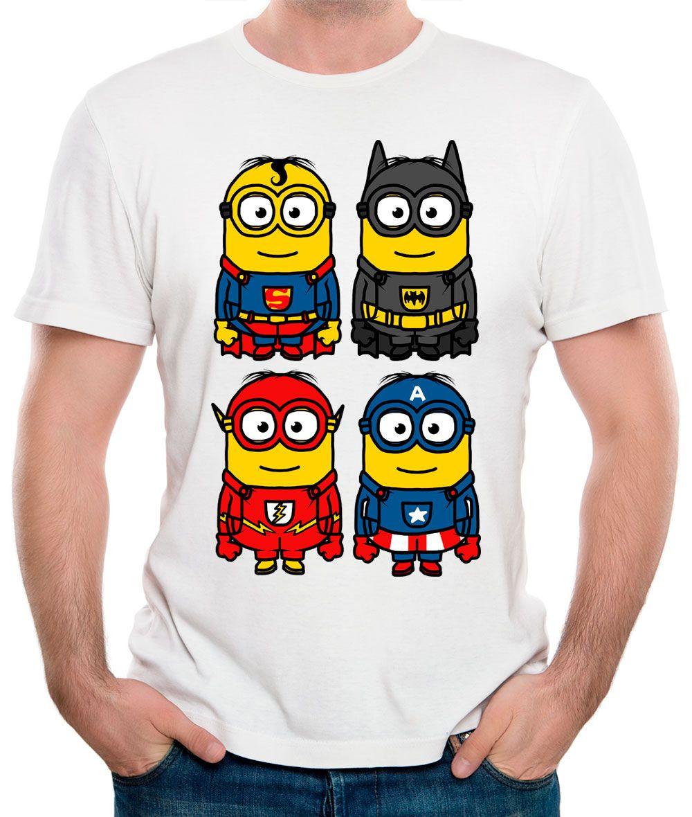 Camiseta Minions heros Branca