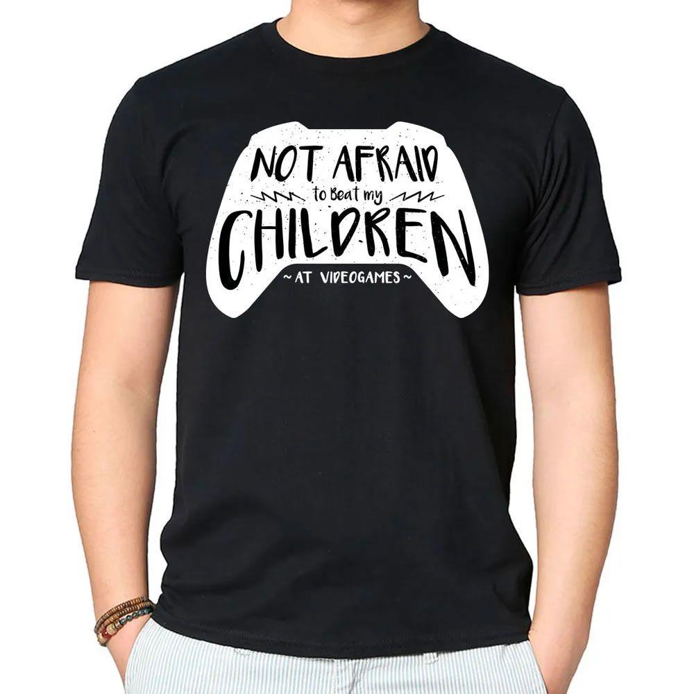 Camiseta Not Afraid Children Preta