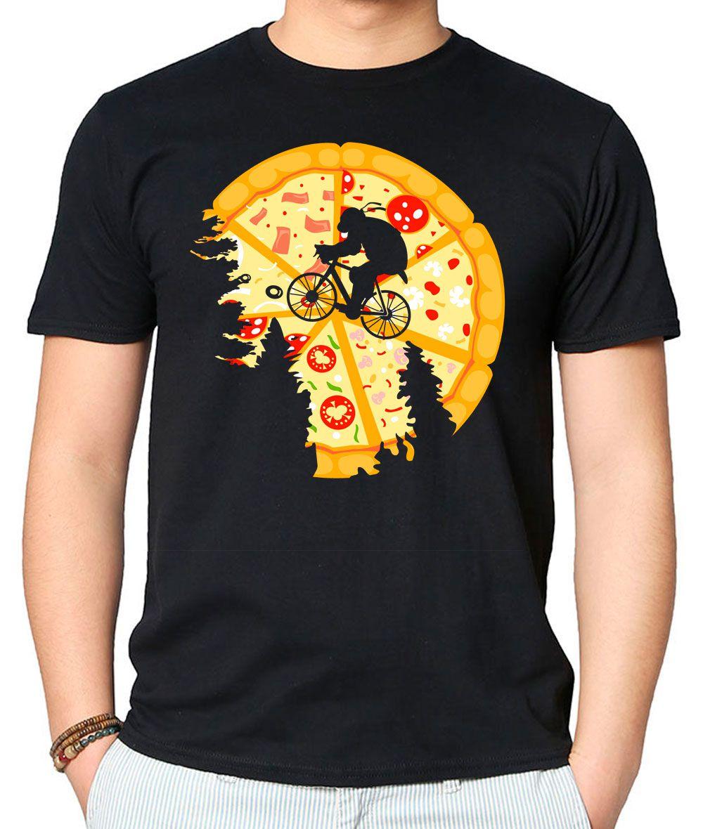 Camiseta Pizza Moon Preta