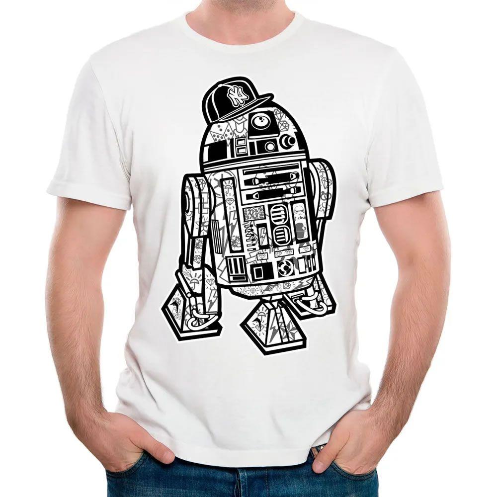 Camiseta R2D2 Branca