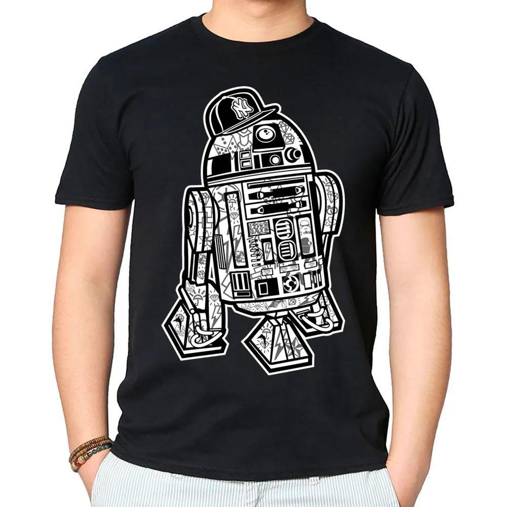 Camiseta R2D2 Preta