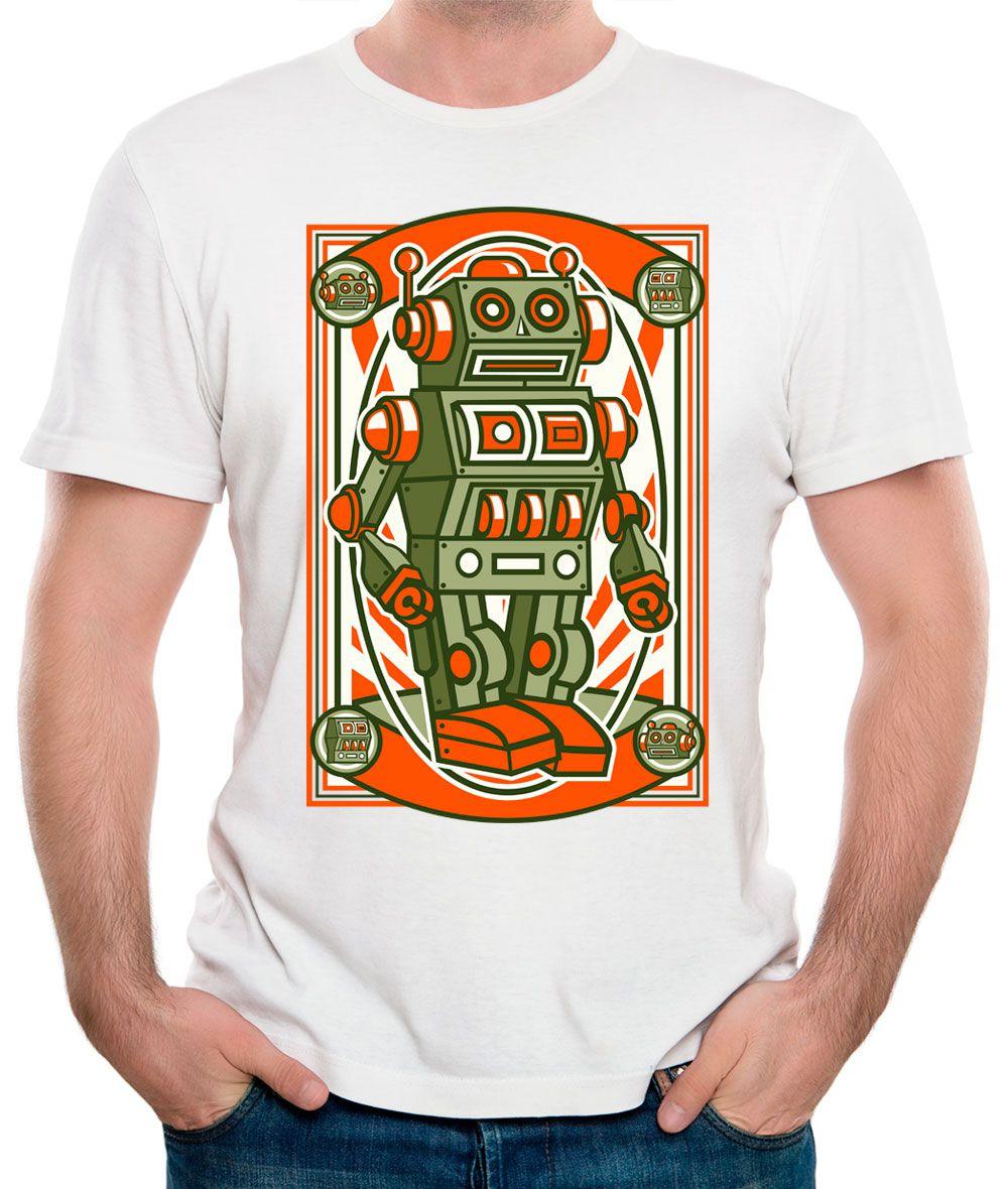 Camiseta Robô Vintage