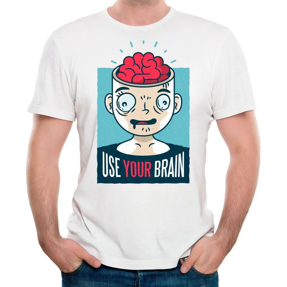 Camiseta Use Seu Cérebro II Branca