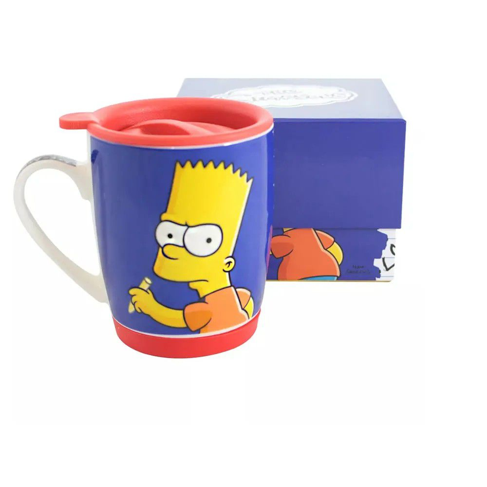 Caneca Bart Simpson Azul