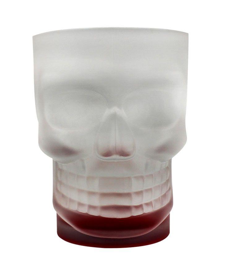 Caneca Caveira Skull Mug Base Vermelha