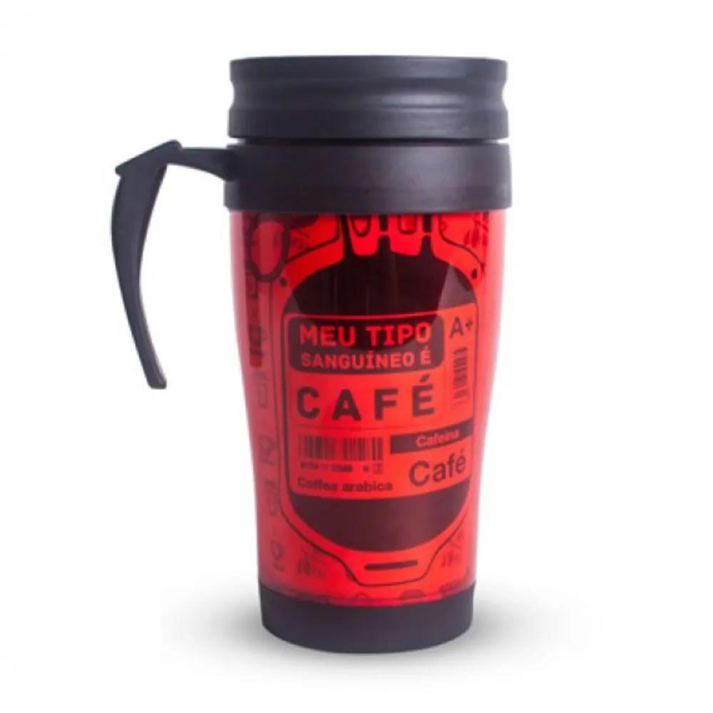 Caneca Coffee To Go Vermelho - Tipo Sanguíneo